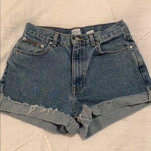 VINTAGE Calvin Klein cutoff shorts